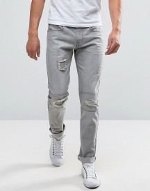 Bellfield Slim Jeans With Rip And Repair Detailing afbeelding