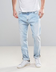Bershka Slim Fit Jeans In Bleach Wash afbeelding