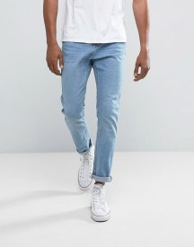 Bershka Slim Jeans In Light Wash afbeelding