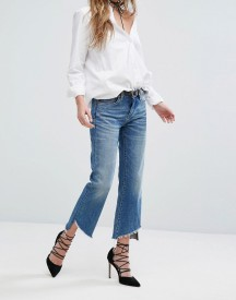 Blank Nyc Crop Kick Flare Jean With Raw Step Hem Detail afbeelding