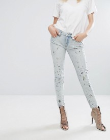 Blank Nyc Skinny Jean With Paint Splash And Rips afbeelding