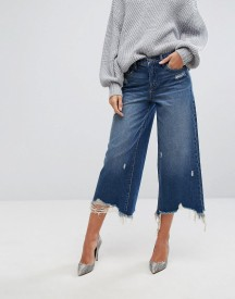 Blank Nyc Wide Leg Jean With Distressing afbeelding