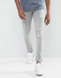 Blend Cirrus Skinny Fit Jean Ripped Light Grey Wash afbeelding
