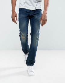 Blend Twister Slim Fit Jean Ripped Dark Wash afbeelding