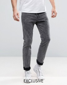 Brooklyn Supply Co Acid Black Skinny Jeans afbeelding