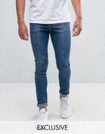 Brooklyn Supply Co Contrast Mid Wash Skinny Dumbo Jeans afbeelding