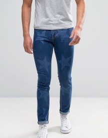 Brooklyn Supply Co Cropped Jeans With Star Print afbeelding