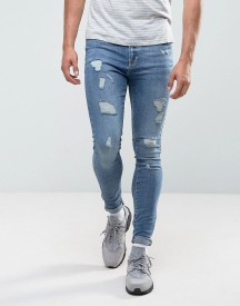 Brooklyn Supply Co Muscle Fit Jean Midwash Rip & Repair afbeelding
