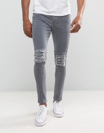 Brooklyn Supply Co Ripped Knee Skinny Jeans afbeelding