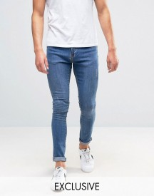Brooklyn Supply Co Stonewash Dyker Jeans In Super Skinny Fit afbeelding
