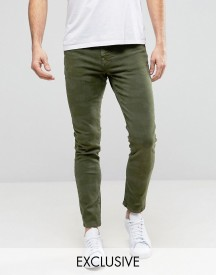 Brooklyn Supply Co Skinny Fit Jeans In Green Camo afbeelding