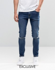 Brooklyn Supply Co Vintage Washed Dumbo Jeans With Knee Slit In Skinny Fit afbeelding