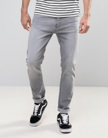 Burton Menswear Tapered Fit Jeans In Grey afbeelding