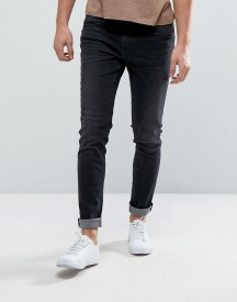 Casual Friday Skinny Jeans In Washed Black afbeelding