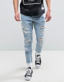 Cayler & Sons Skinny Jeans With Extreme Rips And Raw Hem afbeelding