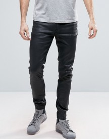 Cheap Monday Him Spray Jeans Coated Black Shine afbeelding