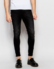 Cheap Monday Jeans Mid Spray Extreme Superstretch Skinny Fit Worn Grey afbeelding