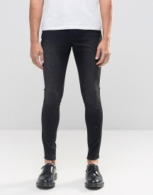 Cheap Monday Mid Spray Jeans Done Black Distress afbeelding