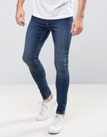 Cheap Monday Mid Spray Jeans In Dim Blue afbeelding