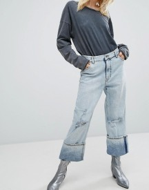 Cheap Monday Relaxed Raw Cut Jean With Turn Up afbeelding