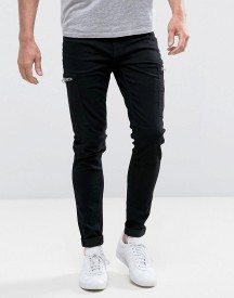 Cheap Monday Spray On Jeans In Black afbeelding