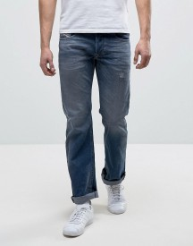 Diesel Larkee Straight Fit Jean 084dc Mid Wash Rip And Repair afbeelding
