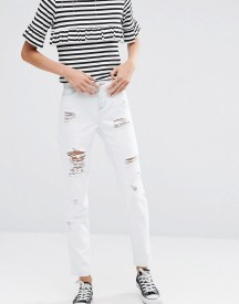 Ditto's Alec Skinny Boyfriend White With Blue Rinsejeans afbeelding