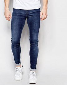 Dr Denim Jeans Kissy Low Spray On Extreme Super Skinny 2nd Hand Light Wash afbeelding