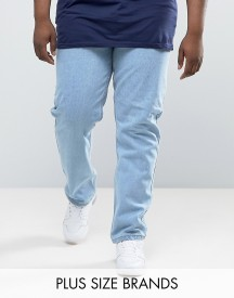 Duke Plus Jeans In Comfort Fit Bleach Wash afbeelding