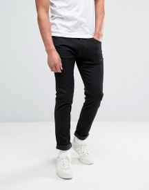 Edwin Ed-85 Slim Stretch Tapered Drop Crotch Jeans Black Wash White Selvedge afbeelding