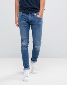 Edwin Ed-85 Slim Tapered Drop Crotch Jeans Baroque Wash Knee Rips afbeelding