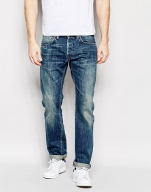 Edwin Jeans Ed-55 Selvedge Relaxed Tapered White Listed Mid Sifted Used afbeelding