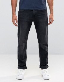 Esprit Straight Fit Jeans In Black Washed Denim afbeelding