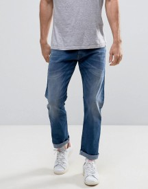 Esprit Straight Fit Jeans In Mid Wash Denim afbeelding