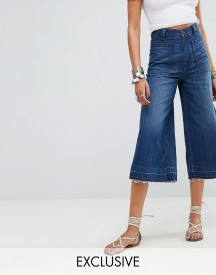 Free People Dawn To Dusk Crop Flare Jean afbeelding