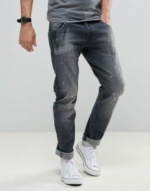 G-star Arc 3d Slim Jeans Grey Wash Painted Jeans afbeelding