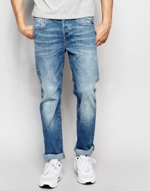 G-star Jeans Attacc Straight Fit Zip Back Pocket Stretch Light Aged afbeelding