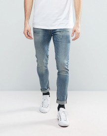 G-star Revend Super Slim Jeans Grey Medium Aged Wash afbeelding