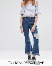 Glamorous Tall Distressed Detail Frayed Hem Jeans afbeelding