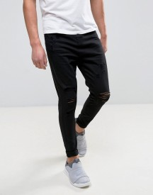 Good For Nothing Super Skinny Jeans In Black With Distressing afbeelding