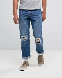 Heros Heroine Jeans In Straight Fit With Rips afbeelding