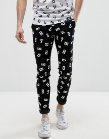 House Of Holland X Lee Lettering Malone Super Skinny Jeans afbeelding
