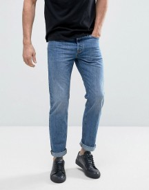Jack & Jones Intelligence Jeans In Regular Fit Washed Denim afbeelding