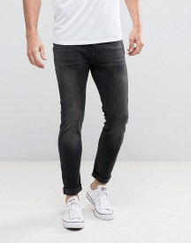 Jack & Jones Intelligence Jeans In Skinny Fit Washed Black Denim afbeelding