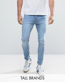 Jack & Jones Intelligence Jeans In Skinny Fit Washed Denim afbeelding