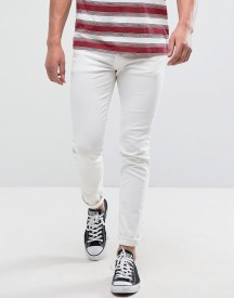 Jack & Jones Intelligence Jeans In Slim Fit In White afbeelding