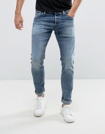 Jack & Jones Intelligence Jeans In Slim Fit Washed Denim afbeelding