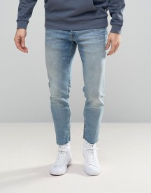 Jack & Jones Intelligence Jeans In Slim Fit With Raw Hem afbeelding