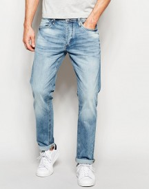 Jack & Jones Intelligence Light Wash Jeans In Straight Fit afbeelding