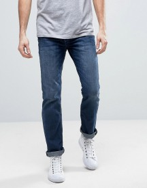 Jack & Jones Intelligence Regular Fit Jeans In Mid Blue Denim afbeelding